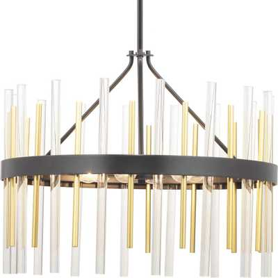 Progress Lighting Orrizo 6-Light Black Chandelier - Home Depot