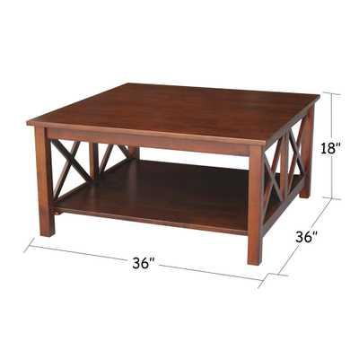 Hampton Espresso (Brown) Coffee Table - Home Depot