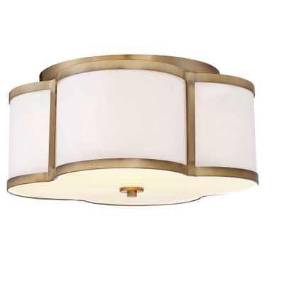 Semi Flush Mount Ceiling Lights with White Fabric Shade (Set of 3) - Filament Design - Target