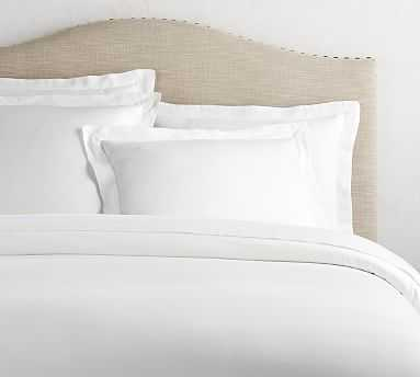 Tencel(TM) Duvet Cover, Full/Queen, White - Pottery Barn