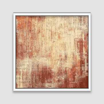 "Framed Canvas Print, Fire Streaks, 48""x48"" - West Elm"