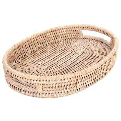 Rattan Oval Tray with Cutout Handles - Birch Lane