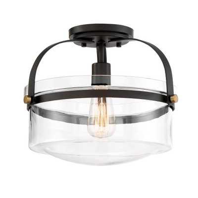 Designers Fountain Jaxon 1-Light Oil Rubbed Bronze Interior Semi-Flushmount - Home Depot