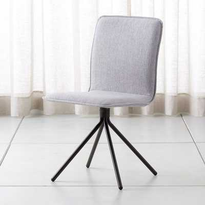 Whirl Grey Swivel Dining Chair - Crate and Barrel