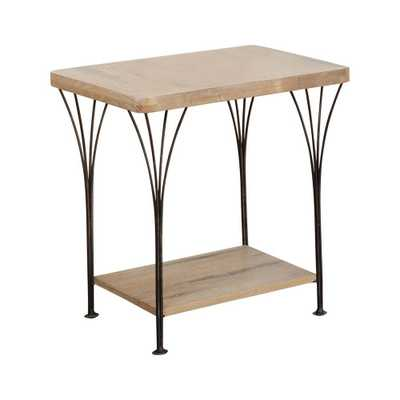 Thetford End Table Wood and Metal Washed Wood - Alaterre Furniture - Target