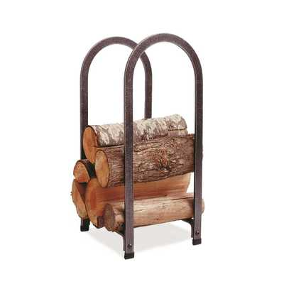 1.75 ft. Handcrafted Vertical Arch Firewood Rack Hammered Steel - Home Depot
