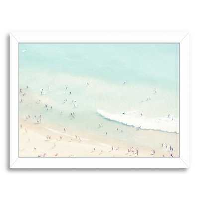 Beach Love III by Ingrid Beddoes - Picture Frame Print on Canvas - AllModern