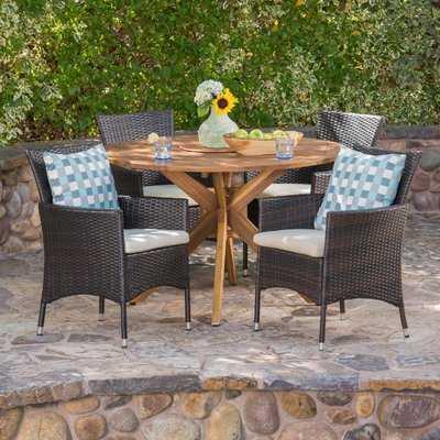 5 Piece Dining Set with Cushions - Wayfair