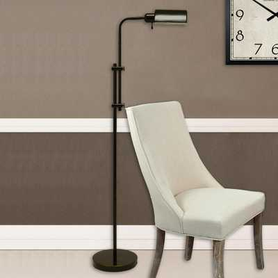 Decor Therapy Harvey Pharmacy 60.5 in. Oil Rubbed Bronze Floor Lamp with Metal Shade - Home Depot