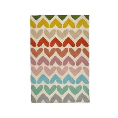 5x8' Heart to Heart Rug - Crate and Barrel
