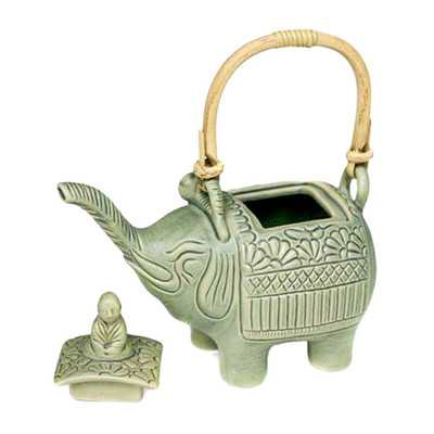 "Buddha and the Jade Elephant"" Teapot Figurine - Wayfair"