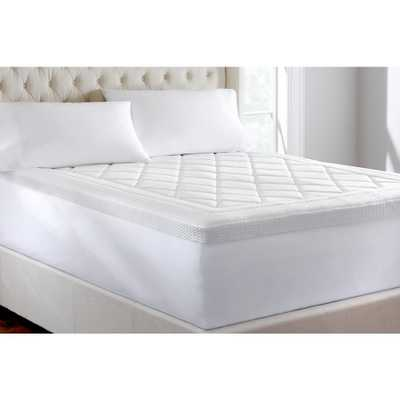 3 in. Quilted Gel Memory Foam Full Mattress Topper, White - Home Depot