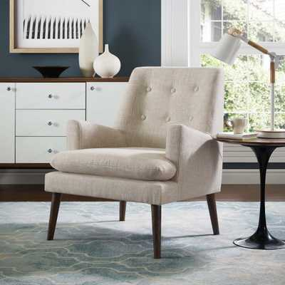 Leisure Upholstered Lounge Chair in Beige - Home Depot