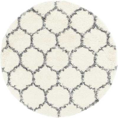Unique Loom Hygge Shag Ivory 5' x 5' Round Rug - Home Depot