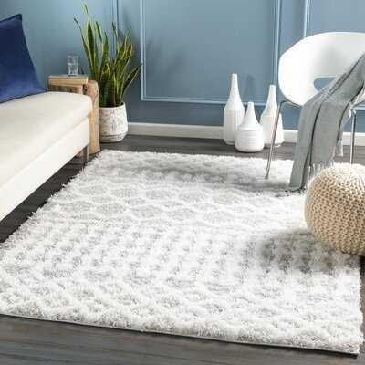 Covina Urban Shag Global White, Light Gray Area Rug - Wayfair