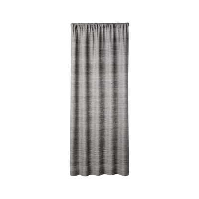 "Silvana Silk Dark Grey Curtain Panel 48""x84"" - Crate and Barrel"