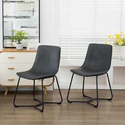 Abra Upholstered Dining Chair set of 2 - Wayfair