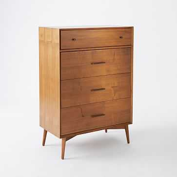 Mid-Century 4 Drawer Dresser, Acorn - West Elm