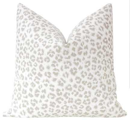 "Cougar Linen Print // Stone - 15"" X 22"" - Little Design Company"
