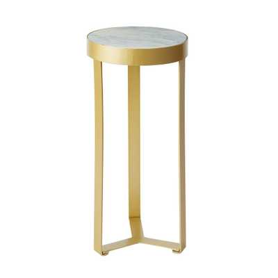 Silverwood Stella Gold Faux Marble Round Accent Table - Home Depot