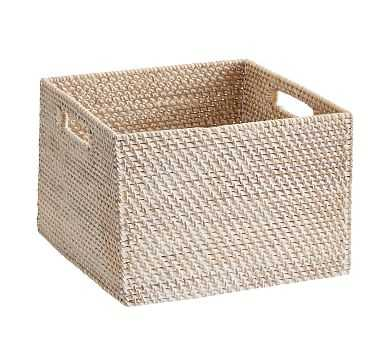 Tava Woven Utility Basket, Small, Whitewash - Pottery Barn