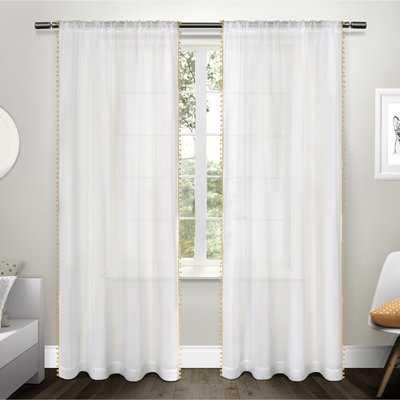 Rockport Solid Color Sheer Rod Pocket Curtain Panels - AllModern