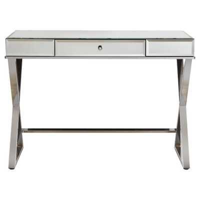 Whitney Mirrored Desk - Chrome (Grey) - Inspire Q - Target