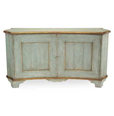 John-Richard Claude French Country Light Blue Gold Gilded Buffet Sideboard - Kathy Kuo Home