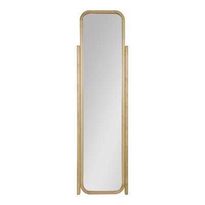 Old Lyme Scandinavian Modern Wooden Standing Ladder Full-Length Mirror - Wayfair