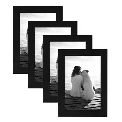 Gallery 4x6 Black Picture Frame (Set of 4) - Home Depot