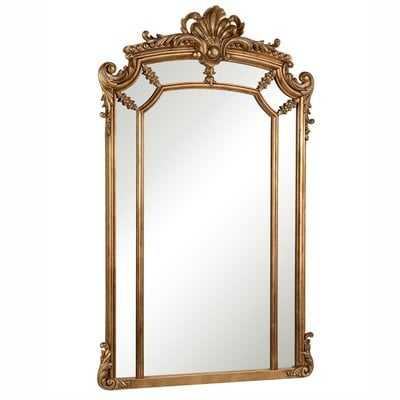 Arch/Crowned Top Wood Wall Mirror - Wayfair