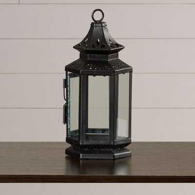 Callie Metal and Glass Lantern - Birch Lane