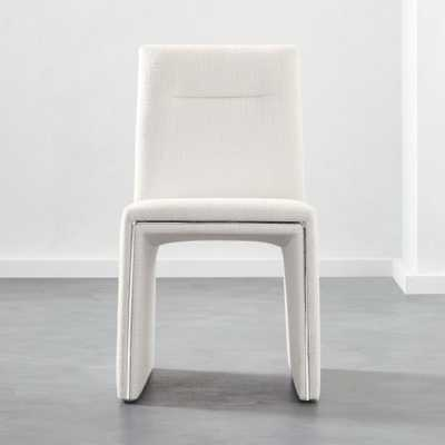 Silver Lining White Armless Dining Chair - CB2