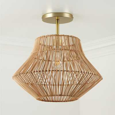 Rattan Ceiling Light - Crate and Barrel