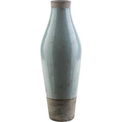 Evry Light Gray Ceramic Table Vase - Wayfair