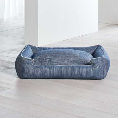 Lounge Silhouette Indigo Large Dog Bed - Crate and Barrel