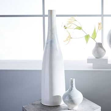 "Reactive Glaze Vase, Extra Tall, 25"", White - West Elm"