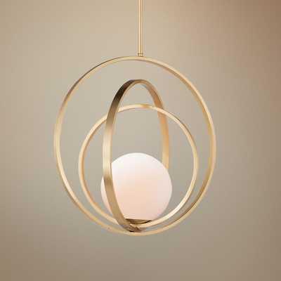 "Maxim Coronet 17 1/2"" Wide Satin Brass Pendant Light - Style # 59J49 - Lamps Plus"