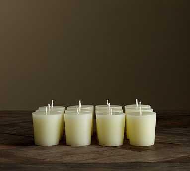 Unscented Votive Candles, Ivory - Set of 12 - Pottery Barn