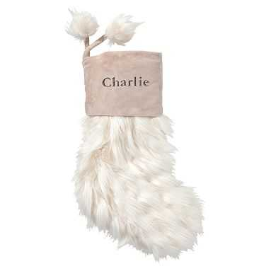 Llama Faux-Fur Stocking - Pottery Barn Teen