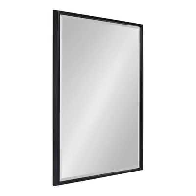 Blake Rectangle Black Wall Mirror - Home Depot