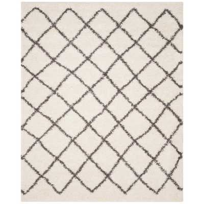 Beverley Ivory/Dark Gray 8 ft. x 10 ft. Area Rug, Ivory/Gray - Home Depot