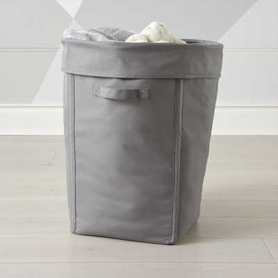 Canvas Grey Hamper - Crate and Barrel