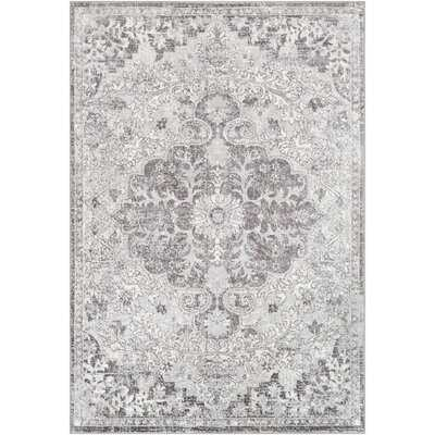 Rosso Traditional Silver/Gray/White Area Rug - Wayfair