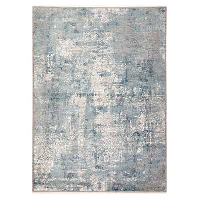 Julie Modern Classic Blue Grey Abstract Pattern Rug - 2x3 - Kathy Kuo Home
