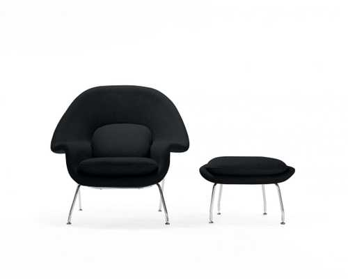 Womb Chair And Ottoman -  Black - Rove Concepts