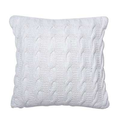 Pitchford Cable Cotton Throw Pillow - Wayfair
