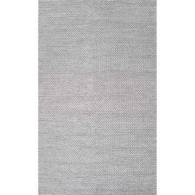 Makenzie Hand-Braided Wool Light Gray Area Rug - AllModern