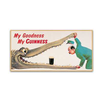 "My Goodness My Guinness XVI"" by Guinness Brewery Vintage Advertisement on Wrapped Canvas - Wayfair"