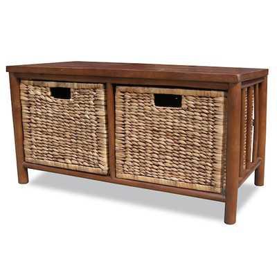 Annapolis Bamboo Storage Bench - Wayfair